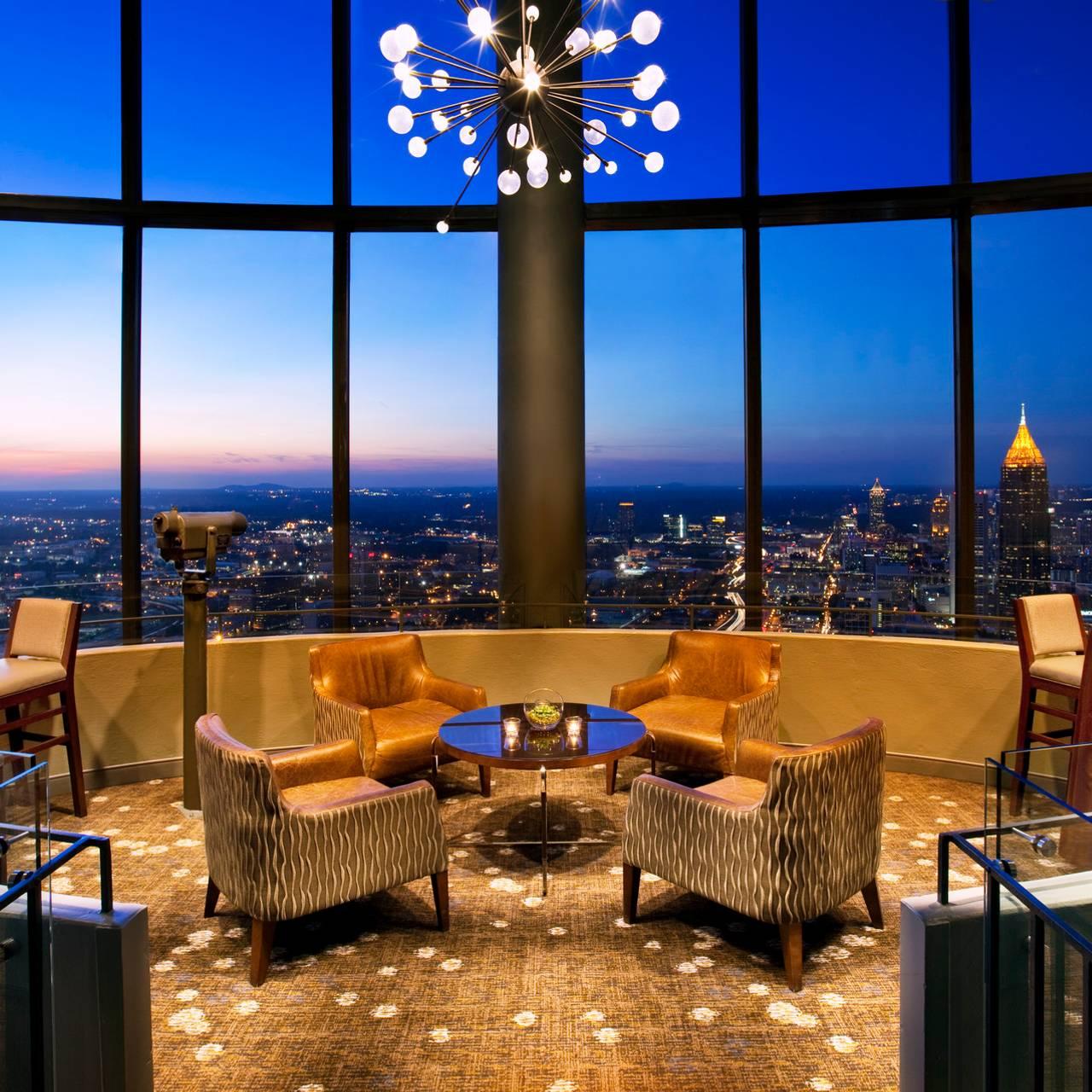 The Sun Dial Restaurant At Westin Peachtree Plaza Atlanta Ga Opentable