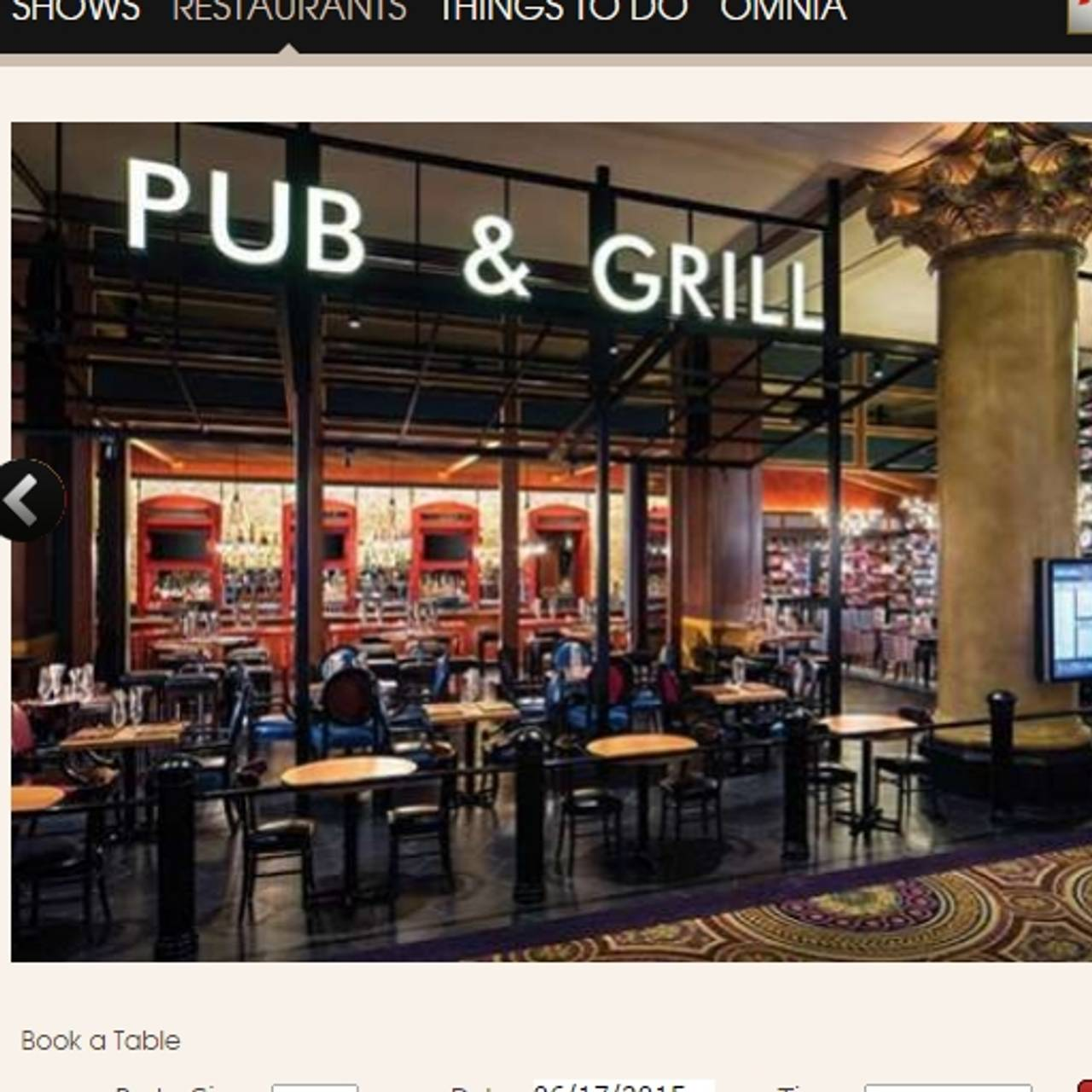 Gordon Ramsay Pub Grill Caesars Palace Las Vegas