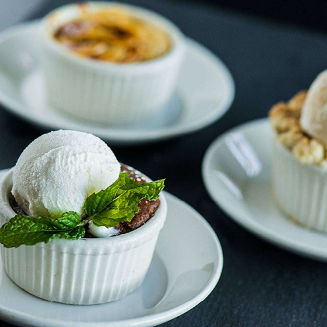 Mini Dessert Trio Sampler Yard House Miami South Beach Fl