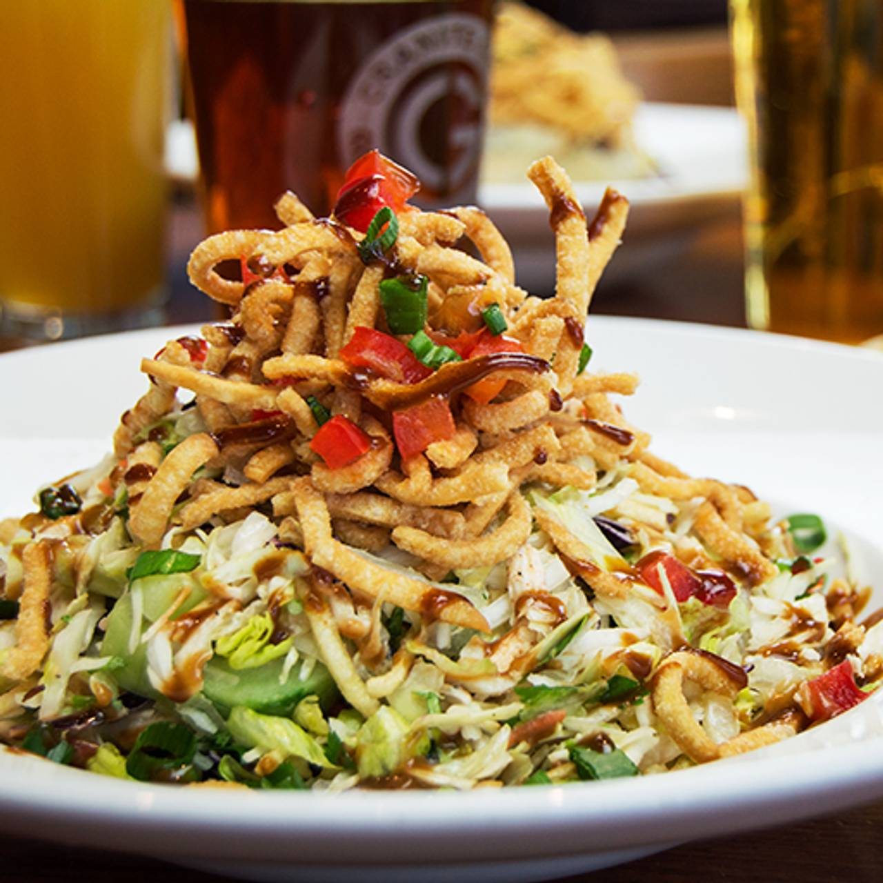 Asian Salad Granite City Food Brewery Eagan Mn