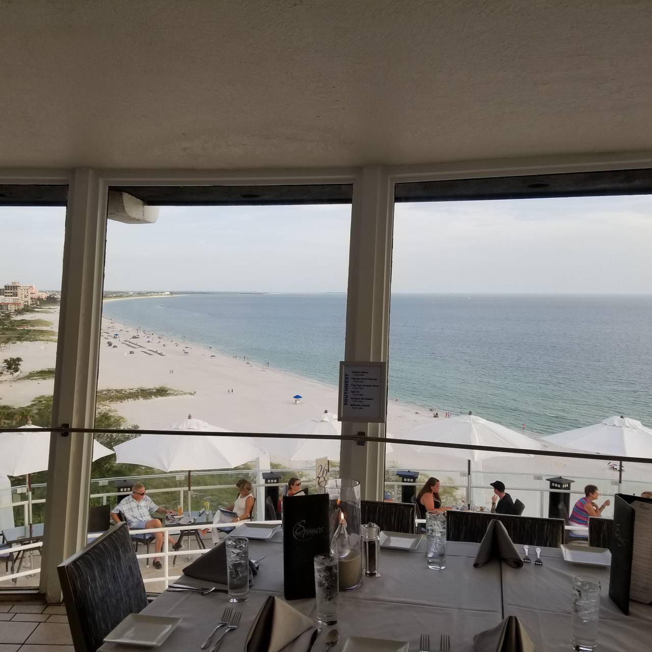 Spinners Rooftop Revolving Bistro Lounge Grand Plaza Hotel St Pete Beach Restaurant Fl Opentable