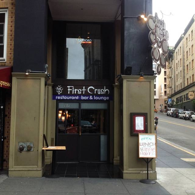 First Crush Restaurant & Wine Bar, San Francisco, CA
