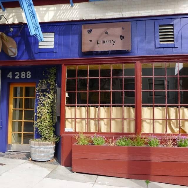 Firefly Restaurant, San Francisco, CA