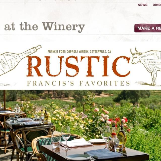 Rustic, Francis's Favorites, Geyserville, CA