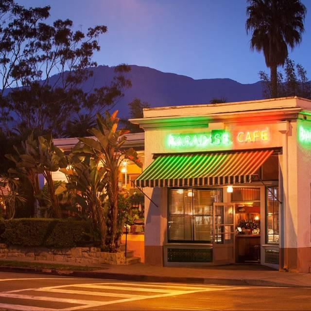 Paradise Cafe Menu Santa Barbara Ca