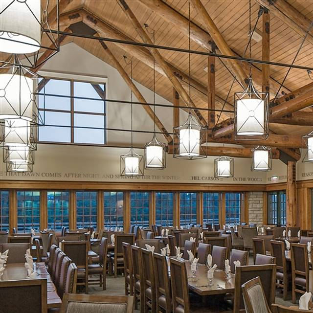 Timber dining room at lied lodge conference center