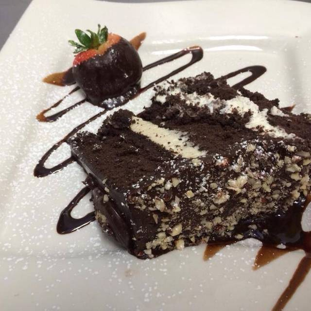 Triple Layer Chocolate Hazelnut Cake - Tapped Gastropub, Virginia Beach, VA