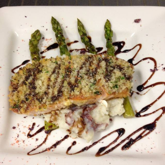 Herb Encrusted Salmon - Tapped Gastropub, Virginia Beach, VA