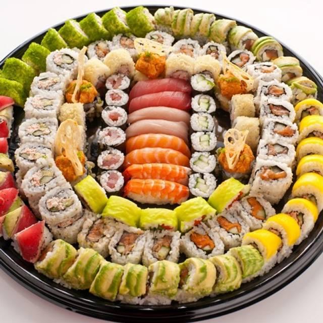 Reg Sushi Platter  Overhead - RA Sushi Bar Restaurant - Torrance, Torrance, CA