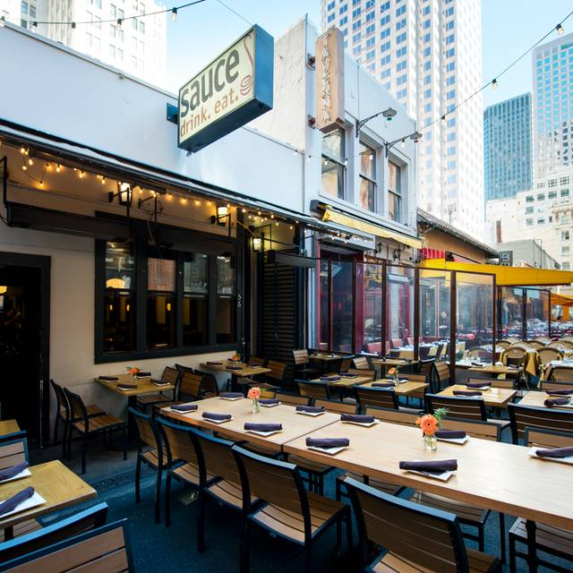 Outdoor Seating - Sauce: Belden, San Francisco, CA