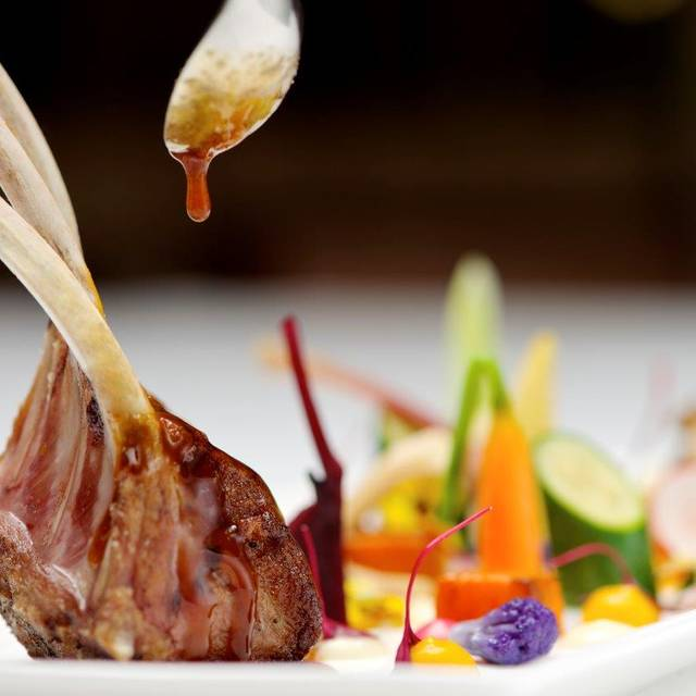 The-wellesley-oval-restaurant-rack Of Lamb With Purple Cauliflowers And - The Oval Restaurant at The Wellesley London, London