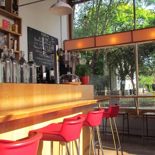 Bar Image Red Chairs - Highbury Arts Club, London