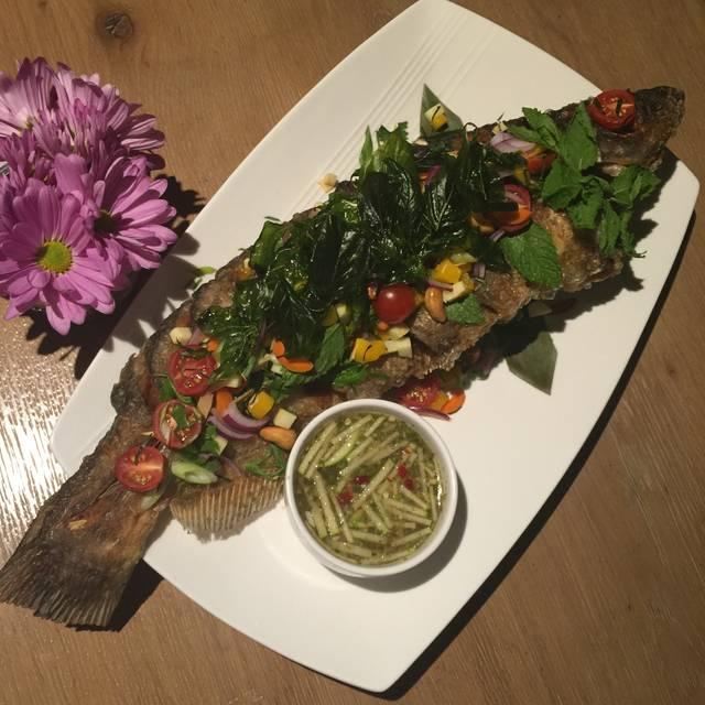 Crispy Lemongrass Catfish - Arawan Thai Bistro & Dessert, Las Vegas, NV