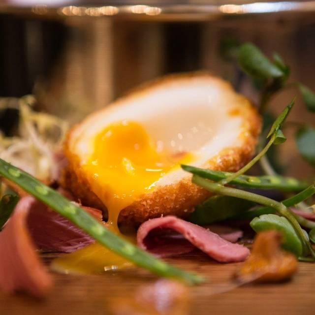 Crispy Duck Egg, Girolles, Truffle Dressing - 28-50 Marylebone, London