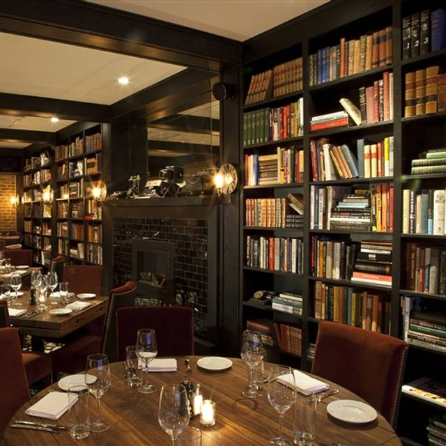 The writing room restaurant new york ny opentable for Personal home library