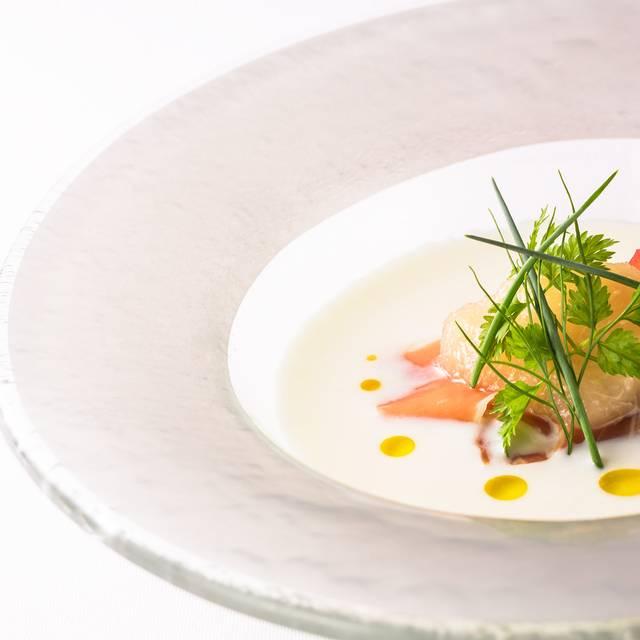 白桃と生ハムの冷製スープ - Akagane Dining, Higashiyama-ku, Kyoto-shi, Kyoto