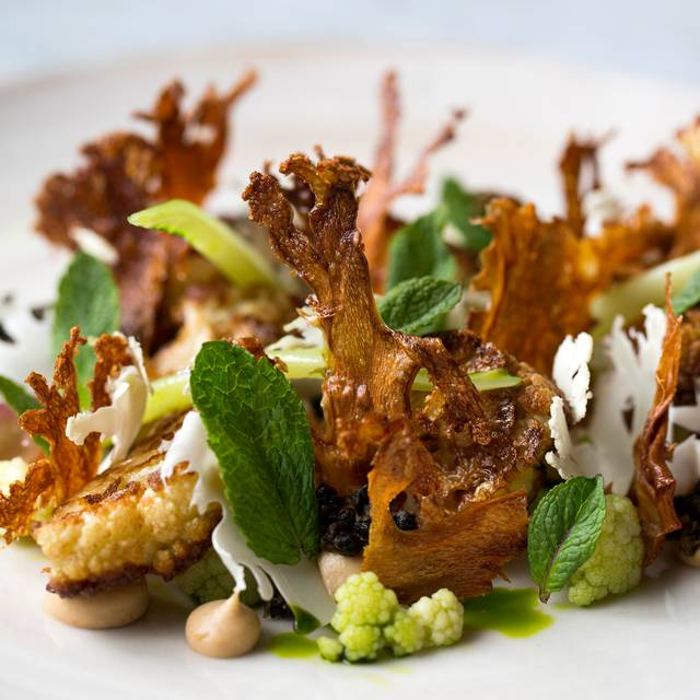 Yeasted Cauliflower, Raisins, Capers & Mint - Typing Room, London
