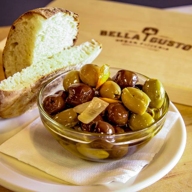 Citrus Marinated Olives - Bella Gusto Urban Pizzeria, Chandler, AZ