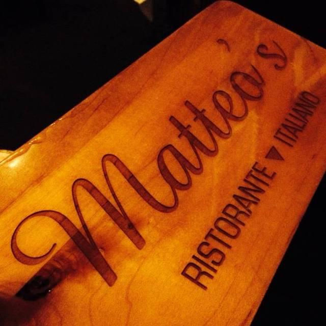 Matteo's Ristorante Italiano, Noblesville, IN