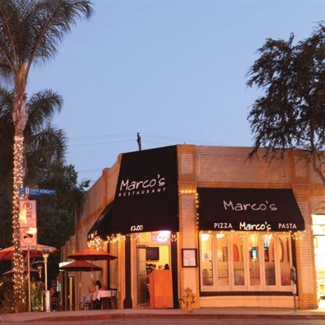 Marco's Trattoria - West Hollywood, West Hollywood, CA