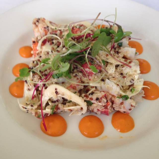 Lobster Salad , Fresh Hearts Of Palm, Quinoa, Walnut Vinaigrette , Romesco Sauce - Aix en Provence, Charlotte, NC