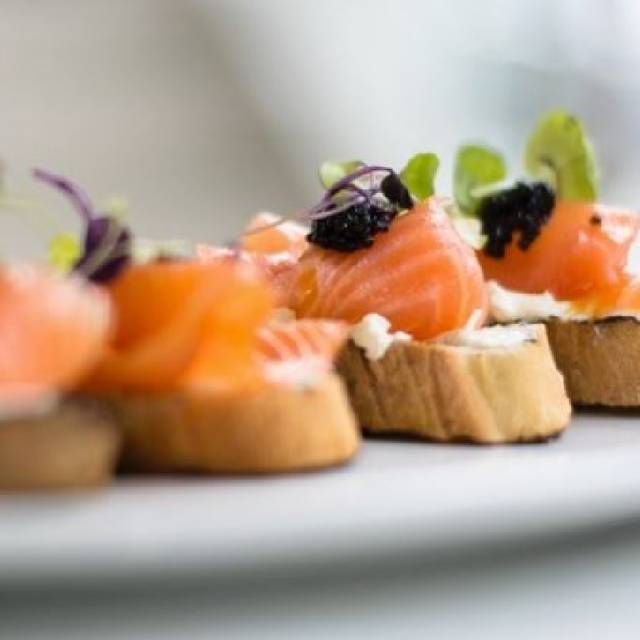 Smoked Salmon Crostini - ORO, Raleigh, NC