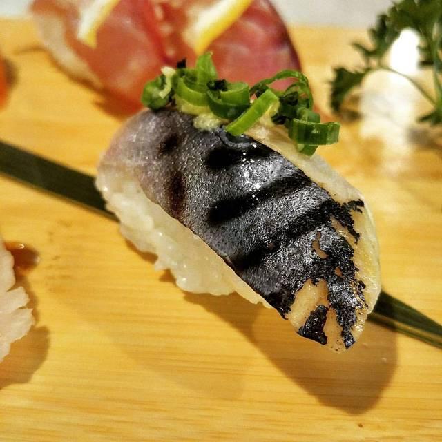 Mackerel Nigiri - Crave Sushi, Houston, TX