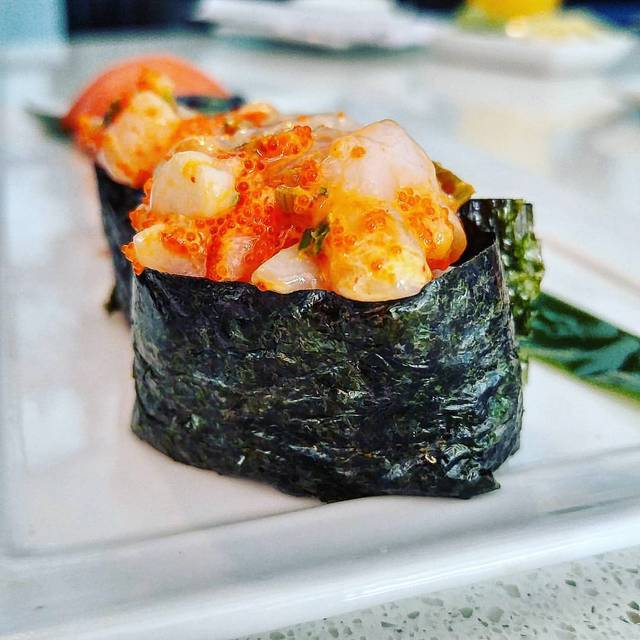 Spicy Chopped Scallop Nigiri - Crave Sushi, Houston, TX