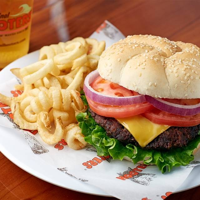 Burger Mouthful - Hooters of Brandon, Tampa, FL
