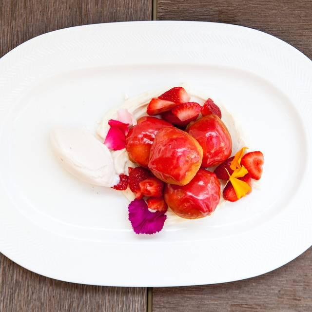 Warm Strawberry Glazed Beignets - Herringbone - Santa Monica, Santa Monica, CA