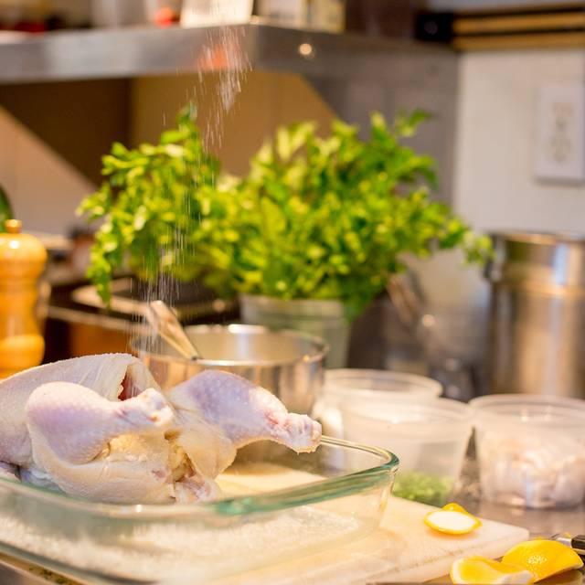 In the kitchen - Peter Lowell's, Sebastopol, CA