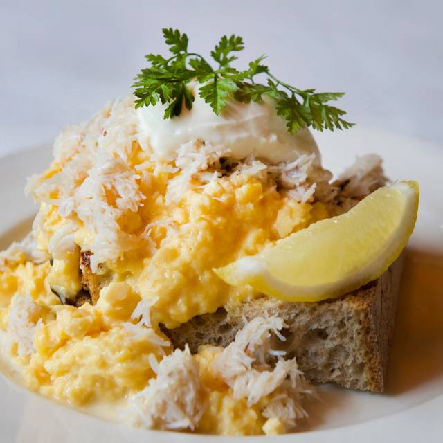 Balthazar - Scrambled Eggs And Cornish Crab With Toasted Balthazar Sourdough Toast And Creme Fraiche   - Balthazar London, London