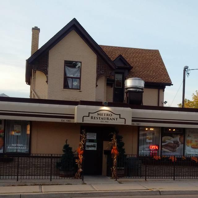 Metro Restaurant Kitchener Menu
