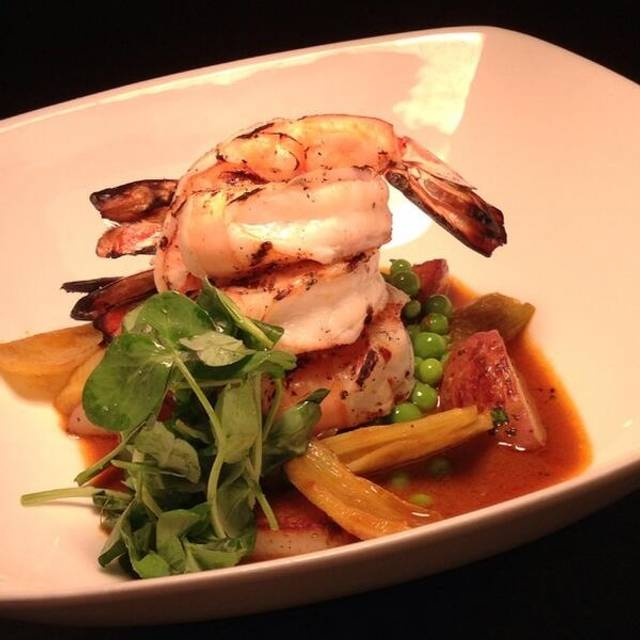 Grilled Shrimp, Saffron, Fennel, Housemade Sausage - The Pickled Heron BYOB, Philadelphia