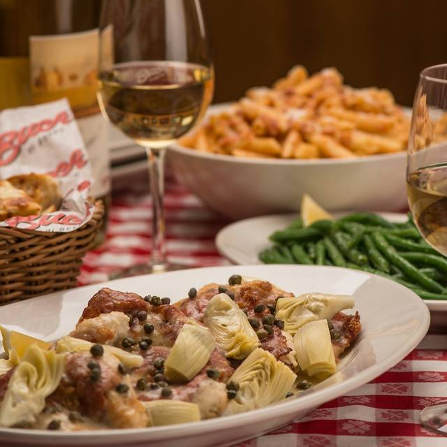 Table Shot - Chicken Saltimbocca - Buca di Beppo - Farmers Market, Los Angeles, CA