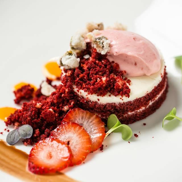 Red Velvet Cake With Strawberry Sorbet - La Vista - Aruba Marriott Resort & Stellaris Casino, Palm Beach, Aruba