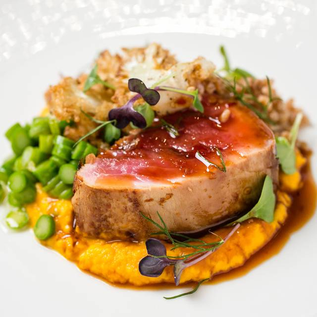 Crusted Pork With Pumpkin Puree - La Vista - Aruba Marriott Resort & Stellaris Casino, Palm Beach, Aruba