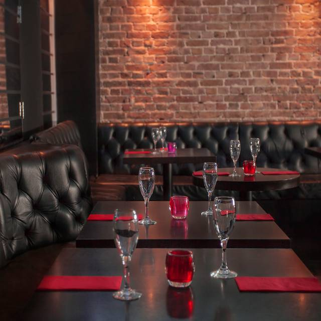 Greek St  Restaurant Tables Rear - Soho Zebrano, London