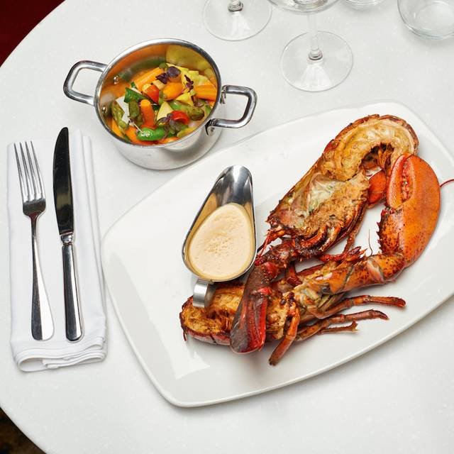 Cognac Flambeed Whole Roasted Lobster - Le Petit Paris, Los Angeles, CA