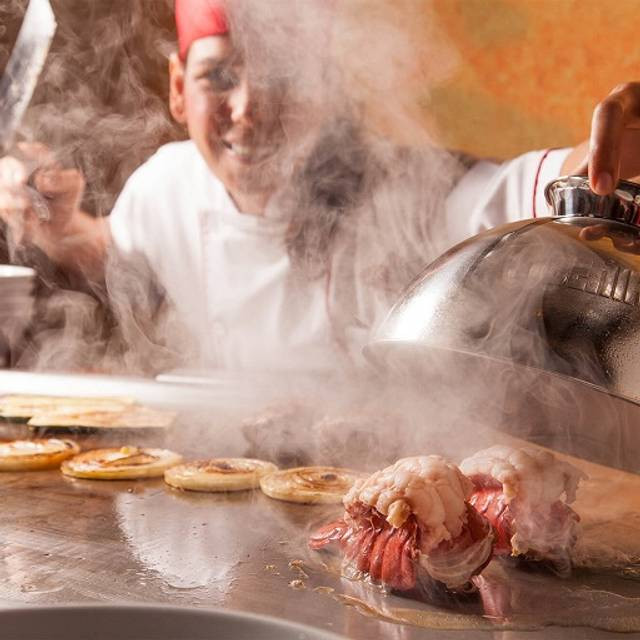 Chef Cooking - Benihana - Houston - Downtown, Houston, TX