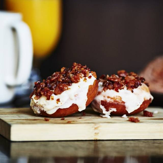 Bacon Glazed Doughnuts - Sable Kitchen & Bar, Chicago, IL