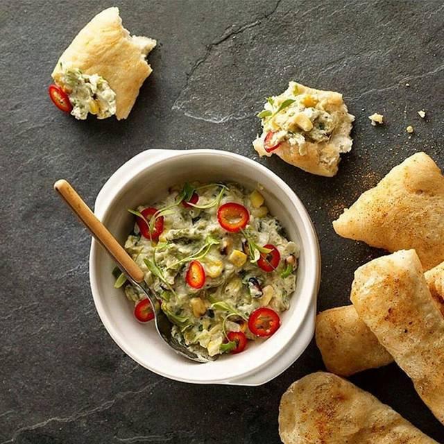 Corn + Cheese Dip With Navajo Bread - Earls Kitchen + Bar - Tysons Corner, McLean, VA