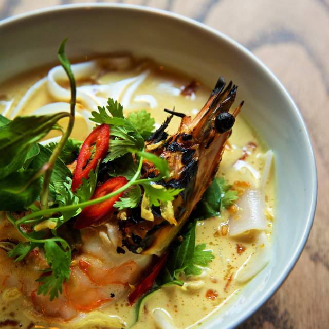 Coconut curry laksa - Flinders Lane, New York, NY