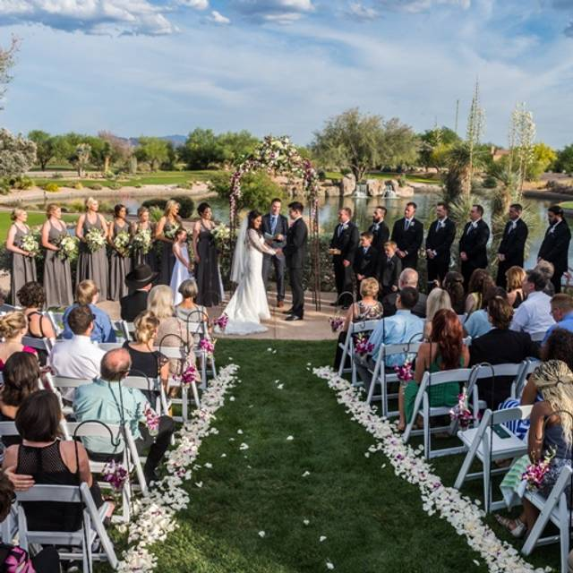 Ceremony - Waterfall - Mesquite Grill at Tonto Verde, Rio Verde, AZ