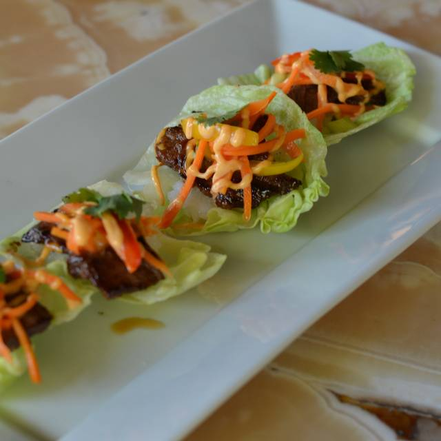 Beef Short Rib, Sticky Rice And Pickled Carrot Lettuce Wraps - Cafe Lurcat - Minneapolis, Minneapolis, MN