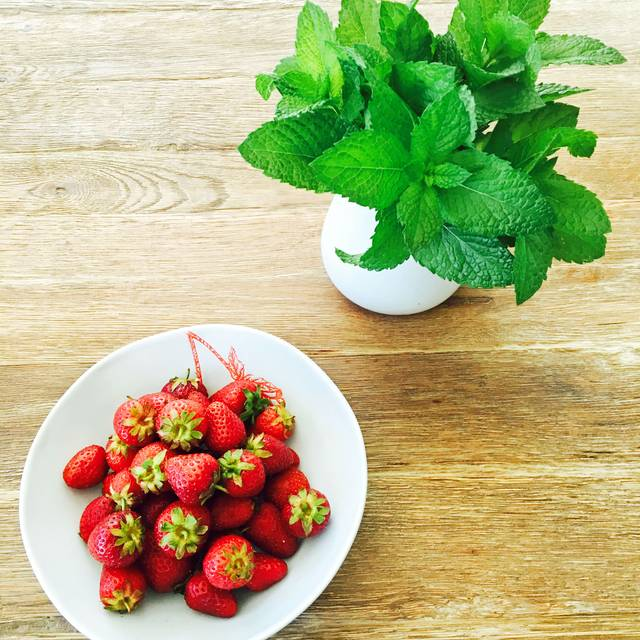 Cure Farms Organic Strawberries And Fresh Picked Mint From Our Gardens - Avelina - Denver, Denver, CO