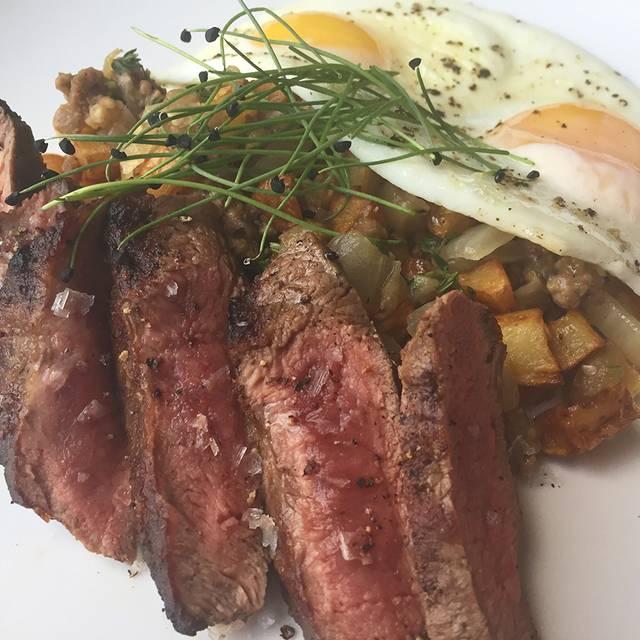 Breakfast   Steak And Eggs - Lait Cru Brasserie, Buffalo, NY
