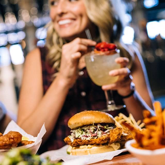 Nashville Hot Chicken Sandwich - Yard House - Seattle, Seattle, WA