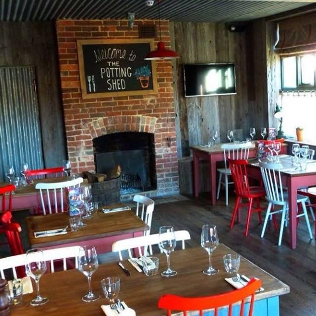 the potting shed langley kent opentable. Black Bedroom Furniture Sets. Home Design Ideas