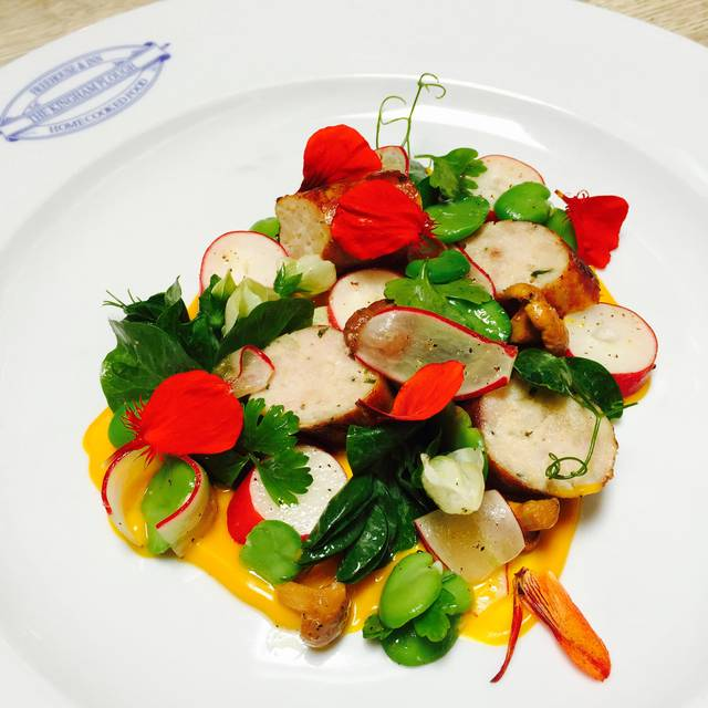 Rabbit Sausage Summer Vegetable Garden - The Kingham Plough, Chipping Norton, Oxfordshire